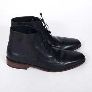 Cole Haan Grand.OS Black Oxford Wingtip Boots